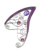 "Blackheart STONE FAIRY EAR CUFF Glitter Detail Purple & Pink Stones 3"" Long NEW"