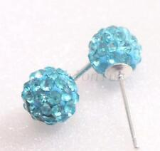Rhodium Plated Crystal Stud Fashion Earrings