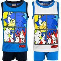 Neu Pyjama Set Schlafanzug Jungen Mädchen Sega Sonic blau weiß 98 104 116 128#12