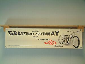 JAP Speedway Grasstrack Banner Engine Workshop Vintage style pvc poster