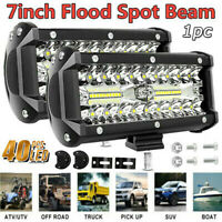 7inch 800W LED Work Light Bar Flood Spot Combo Fog Lamp Offroad Driving Truck