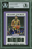 Lakers Magic Johnson Signed 2019 Contenders Draft Picks #40 Card BAS Slabbed