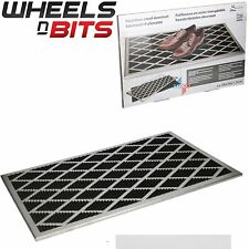Large Stainless Steel with Rubber Inset Front Door Mat Anti Slip Outdoor 58x38cm