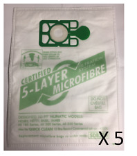 5 Vacuum Cleaner MICROFIBRE Dust Bags For Numatic Henry Hetty Basil James Hoover
