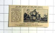 1927 Fringe Of New Forest Easy Reach Bournemouth Cheerful House, Six Beds, £4500