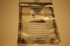 """Single Pocket Deposit Bags 12"""" x 14""""  Clear 50 Bags Security Serial Numbered"""
