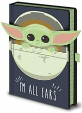 STAR WARS THE MANDALORIAN THE CHILD I'M ALL EARS BLUE A5 NOTEBOOK BABY YODA