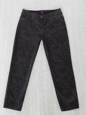 NYDJ Not Your Daughters – 6 PETITE – ANKLE Skinny Black/Gray Print Jeans – #W885