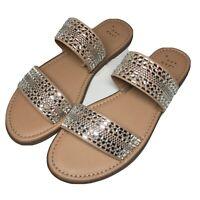 Women's Kersha Embellished Slide Sandals - A New Day Taupe