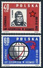 Poland 974-975,MNH.Michel 1226-1227. Yuri Gagarin,1st man in space,1961.