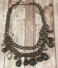 Vintage Loft costume statement jewelry chain and charm
