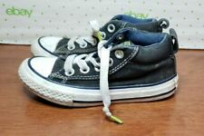 Converse All Star Street Mid-Top Black Sneakers Tennis Shoes Size 11
