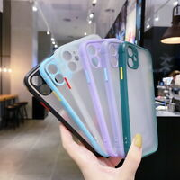 Square Matte Hybrid Hard Clear Case Cover For iPhone 11 Pro XS Max 8 6 7 SE 2020