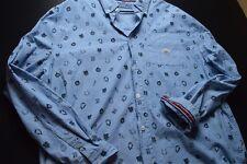 Parish Nation Lucky Blue Long Sleeve Button 3XL Men's Shirt
