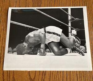 Original 1954 Ezzard Charles Down Vs Rocky Marciano Type 1 Boxing Photo  Mint