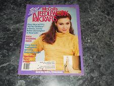 McCall's Needlework & Crafts Magazine February 1988 battenbuerg lace