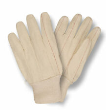 120 PAIR OF DOUBLE PALM COTTON CANVAS WORK GLOVES MENS 20oz LARGE KNIT WRIST NEW