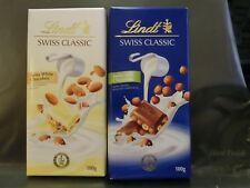 Lindt Swiss Classic Milk White Chocolate with Almond 100g 2 pcs