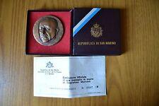 MEDAGLIA REPUBBLICA SAN MARINO 1974 GUGLIELMO MARCONI INC JOHNSON SUBALPINA