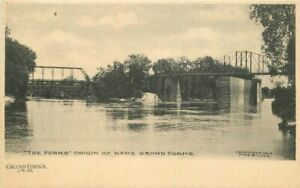 C-1905 The Forks Grand Forks North Dakota Lude undivided Postcard 21-2171