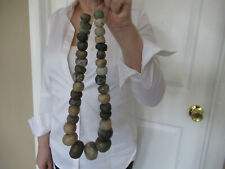 Authentic Pre Columbian Jade Bead Necklace Ancient Mayan Maya ( 300-900Ad )