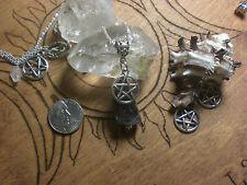 Amethyst Gemstone Pentagram Necklace Silver Healing Calming Dream Peace of Mind