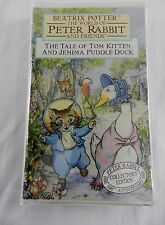 New SEALED Beatrix Potter Peter Rabbit Tom Kitten Puddle Duck Clam shell Case