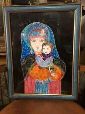 Nilelia Lordman tableau peinture technique mixte intitulé Espoir de 2012 & certi