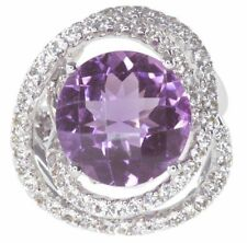 Topaz Cocktail Amethyst Sterling Silver Fine Rings