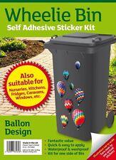 Wheelie Bin Self Adhesive Sticker Kit - Hot Air Balloons Design