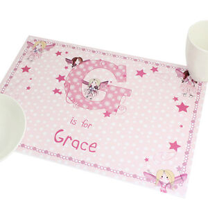 Personalised Girls Fairy Placemat Children's Table Saver Girls Birthday Gift