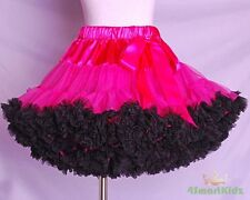 Tulle Pettiskirt Tutu Skirt Dancewear Party Holiday Girl Hot Pink Black 7-8 002A