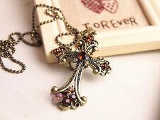 Cross crucifix  pendant  necklace old fashion jewelry