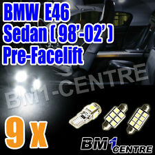 BMW 3 SERIES E46 SEDAN 98'-02' LED LIGHT BULB KIT INTERIOR FOOTWELL LUGGAGE
