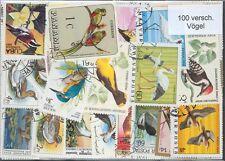 100 verschiedene Briefmarken Vögel , Papageien , Enten , birds , pajaro
