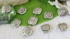 30pcs Tibetan silver square spacer beads FC9310
