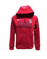 St. Louis Cardinals Men's Nike Club Pullover Hoody Sweatshirt - Red