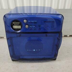 Vintage Sharp Half Pint Carousel Blue Compact Dorm Microwave R-120DB - Tested