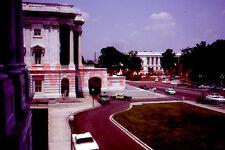 Washington Dc Capital Building Street Scene Police Car 1964 Kodak 35mm Slide