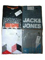 Jack Jones T-Shirt Herren 4er Pack O-Neck Tee Gr M Rundhals Marken Männer SALE