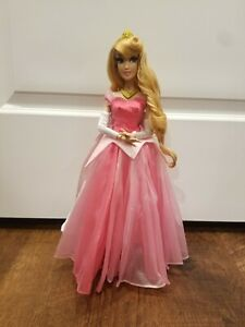 Disney Parks Limited Edition Aurora Doll Anniversary Pink Sleeping Beauty 17in