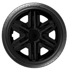 """4x Wheel Covers Hub Caps 16Inch Universal Wheel Trims ABS 16"""" Trim [AKTNBlack]"""