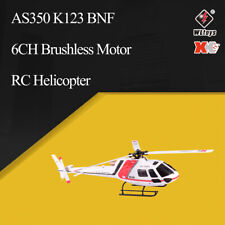 Wltoys XK AS350 K123 6CH 3D 6G Brushless Motor RC Helicopter BNF Aircraft Drone