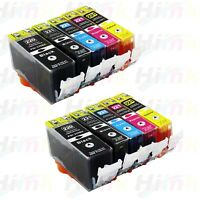 10Pk PGI220 CLI221 Ink for Canon Printer Pixma MX860 MX870 MP560 Printers