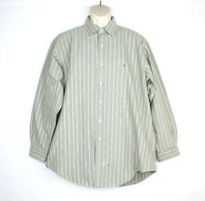 Ralph Lauren Mens Long Sleeve Dress Shirt Size 16 1/2 - 34 Striped Button Down