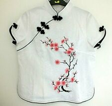 CHINESE PINK CHERRY BLOSSOM WOMEN TOP JACKET DRESS UK SIZE 10-12 EU 40 PARTY