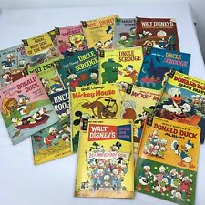 Vintage Lot of Disney Comic Books Mickey Mouse Donald Duck Uncle Scrooge