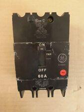 General Electric GE TEY 3 Pole 60 Amp 480/277V TEY360 Circuit Breaker