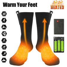 Electric Heated Socks Rechargeable Battery Powered Foot Winter Warm Skiing Men