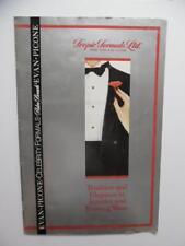 1988 Tropic Formal Wear Men's Tuxedo Style Book Catalog Palm Beach More Vintage